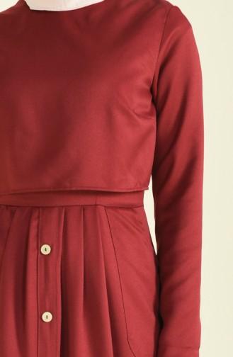 Weinrot Hijap Kleider 4275-10
