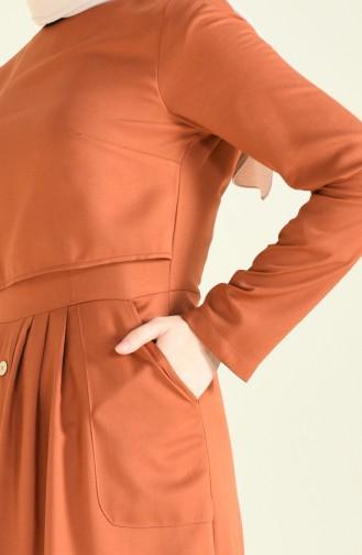 Robe Détail Boutons 4275-12 Cuivre 4275-12