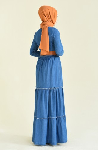 فستان أزرق جينز 81739-01