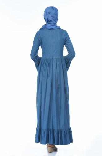 Robe Jean Froncée 81741-01 Bleu Jean 81741-01