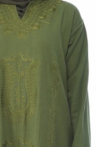 Khaki Hijap Kleider 8000-01
