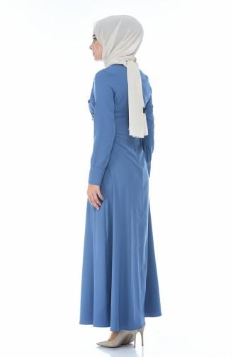 Perlen besticktes Kleid  2088-01 Indigo 2088-01