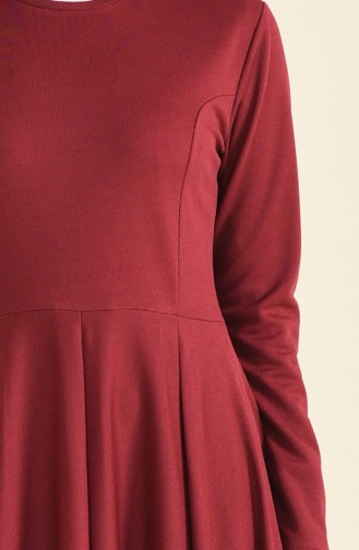 A Pile Dress Bordeaux 1955-01
