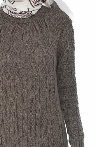 Tricot Knit Pattern Dress Mink 1908-11