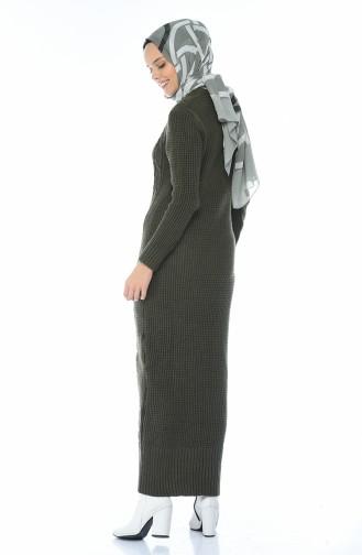فستان تريكو كاكي 1909-02