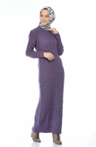 Tricot Dress Purple 1909-05