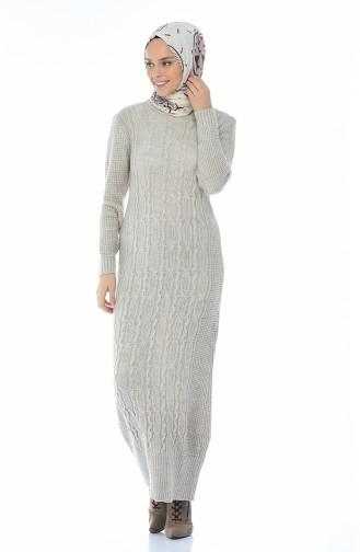 Tricot Dress Beige 1909-08
