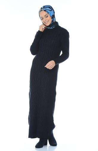 فستان تريكو كحلي 1909-09