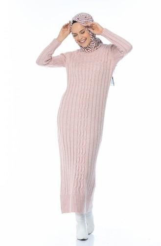 Tricot Long Dress Powder 1920-01