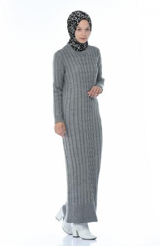 Tricot Long Dress Gray 1920-08