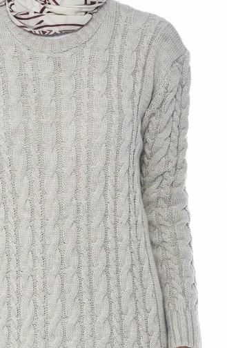 Trikot Kleid mit Strickmuster 1950-04 Beige 1950-04
