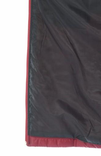 سترة بدون أكمام أحمر كلاريت 1516-02