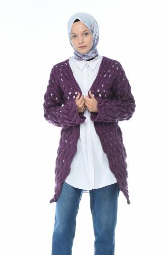 Purple Cardigan 7300-10