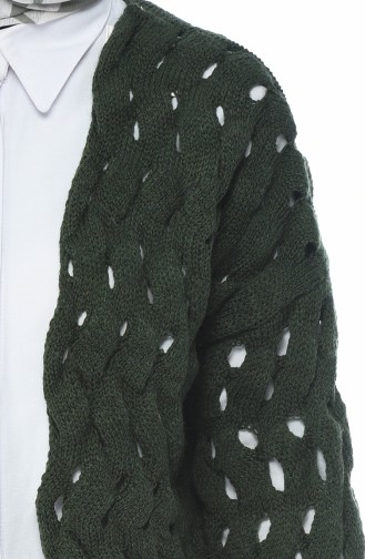 Smaragdgrün Strickjacke 7300-13