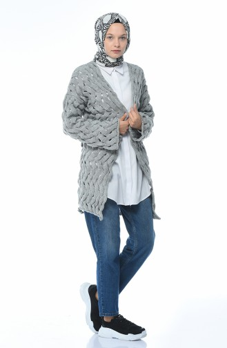 Light Gray Cardigan 7300-14