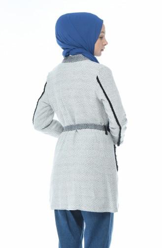 Weiß Strickjacke 1541-01