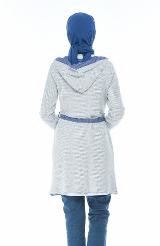 Blau Strickjacke 1542-02