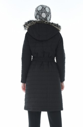 Lined Quilted Coat Black 509503-04