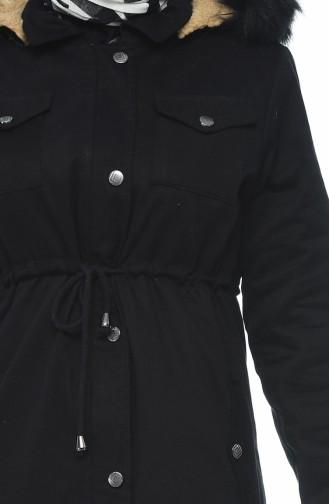 Black Lange Jas 4037-04