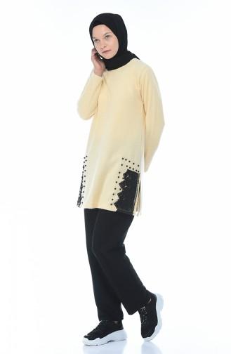 Beige Sweater 15353-01