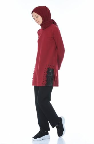 Claret red Sweater 1553-02