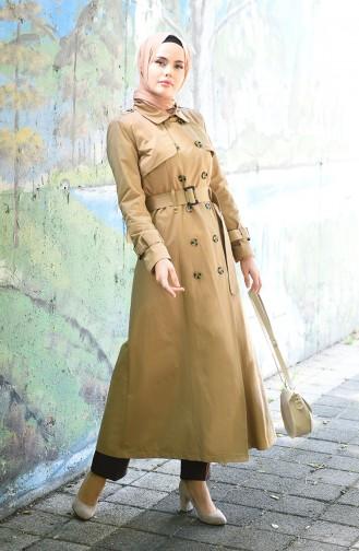Dark Beige Trench Coats Models 6714-02