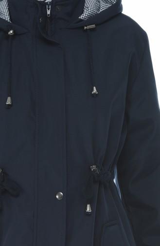 Manteaux a Capuche 5023-03 Bleu marine 5023-03