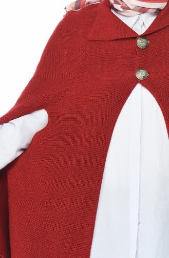 Triko Düğmeli Panco 7301-02 Kırmızı