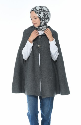 Gray Poncho 7301-11