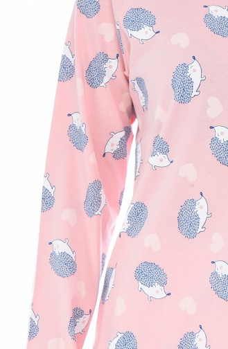 Bayan Uzun Kollu Pijama Takımı 712245-01 Pembe