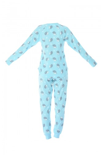 Hellblau Pyjama 712245-02