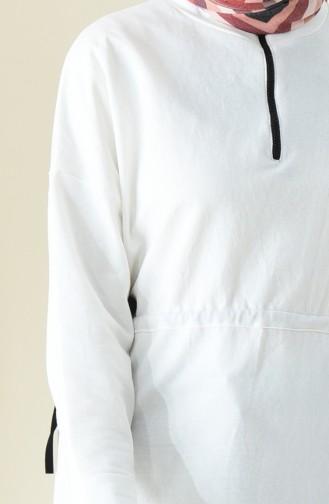 Sweatshirt mit Reissverschluss 0739-02 Naturfarbe 0739-02