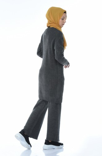 Tricot Tunic Trousers Double Set Anthracite 1912-10