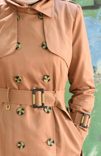 Trench Coat a Boutons 6714-01 Cannelle 6714-01