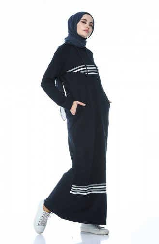 فستان أزرق كحلي 9086-03
