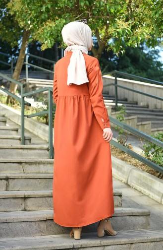 Robe a Boutons 5037-02 Brique 5037-02