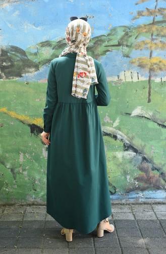 فستان أخضر زمردي 5037-03