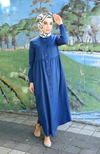 فستان نيلي 5037-06