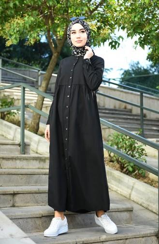 Schwarz Hijap Kleider 5037-08