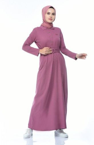 Beige-Rose Hijap Kleider 5039-02