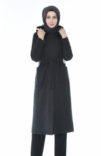 معطف طويل رمادي داكن 5939-05