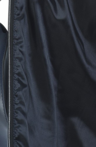 معطف بحزام مبطن كحلي 509503-03