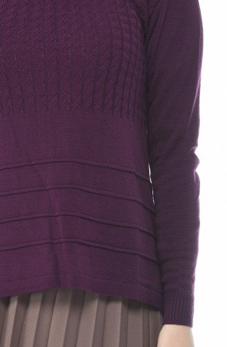Tricot Sweater Purple 10011-07