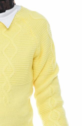 كنزة تريكو صفراء 8021-01