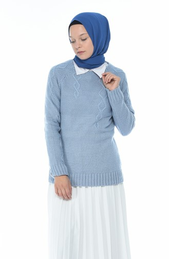 Tricot Sweater Blue 8021-04