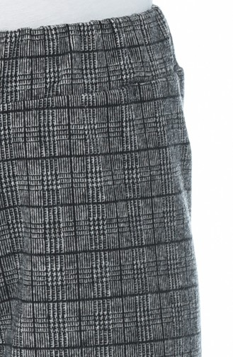 Plaid patterned winter trousers Gray 1005B-01