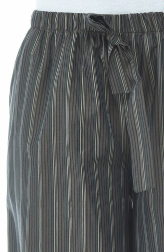 Gestreifte Schlaghose 20007-01 Khaki 20007-01