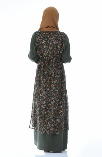 فستان أخضر داكن 0100-01