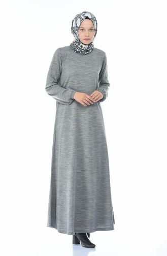 Grau Hijap Kleider 4134-02