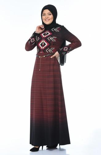Ziegelrot Hijap Kleider 7K3708101-01